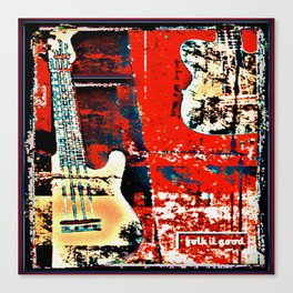 Contemporary Rock and Roll Red Canvas Print