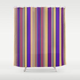 awning stripe Shower Curtain