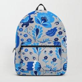 Gzhel - gray Backpack