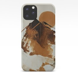 abstract mountains, rustic orange sunrise iPhone Case
