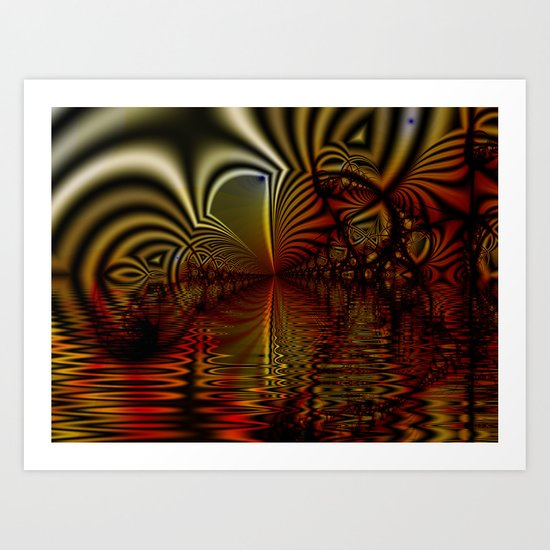 Zebra Reflections Art Print