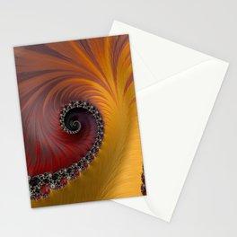 Sunset Spiral - Fractal Art  Stationery Cards