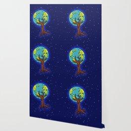SPACE EARTH TREE Wallpaper