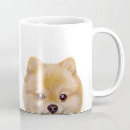 Pomeranian Dog illustration original painting print Coffee Mug