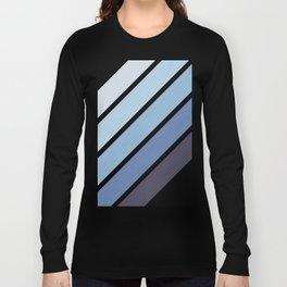 Blue Color Drift Long Sleeve T-shirt