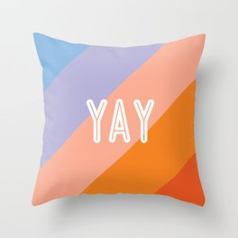 YAY Sunset Gradient Throw Pillow