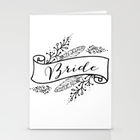 bride Stationery Cards featuring Bride by Alexis Wright