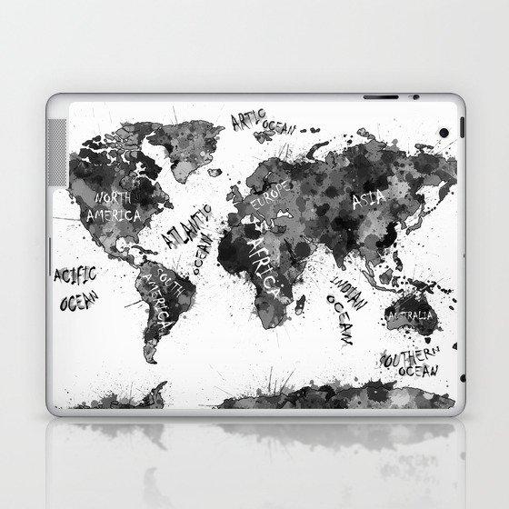 World Map Color Splatter 4 Laptop Ipad Skin By Bekimart Society6