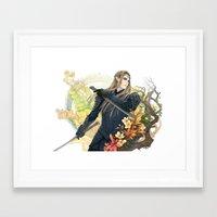 thranduil Framed Art Prints featuring Thranduil  by kagalin