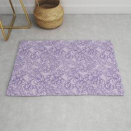 Purple Flower Doodle Rug