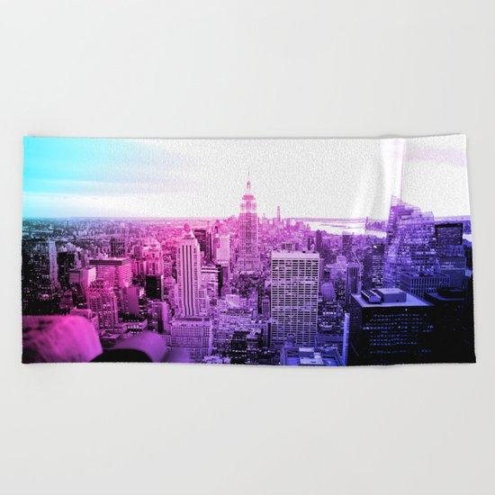 New York City : Pastel  Beach Towel