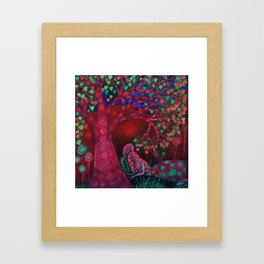 Valentine Tree Framed Art Print