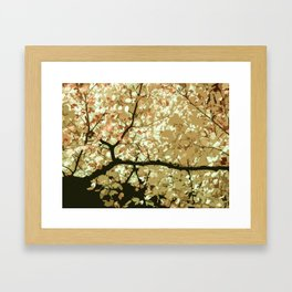 Lush of Leaves in Watercolor Artwork Framed Art Print