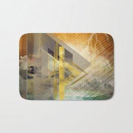 Thurisaz  Rune Digital Art composition Bath Mat