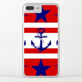 Nautical Red Clear iPhone Case
