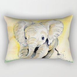 Colorful Baby Elephant Rectangular Pillow