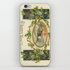 A Happy Vintage New Year iPhone & iPod Skin