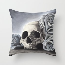 Death by the Rose Throw Pillow
