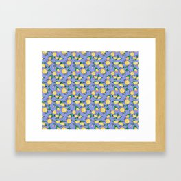 Purple lemons Framed Art Print