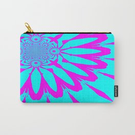 The Modern Flower Turquoise & Fushia Carry-All Pouch
