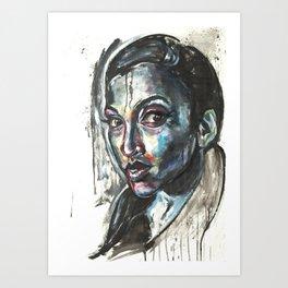 Blue Piece Art Print