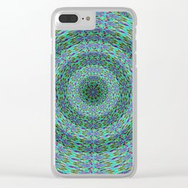 Circle pattern beaded Clear iPhone Case