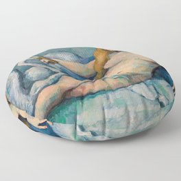 Leda and the Swan, Paul Cezanne, 1880 Floor Pillow