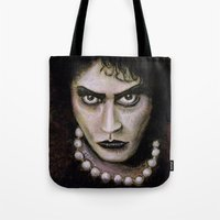 rocky horror picture show Tote Bags featuring Untitled I by Rouble Rust