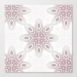Feathers, Geometric Pattern in Mauve and Grey Canvas Print