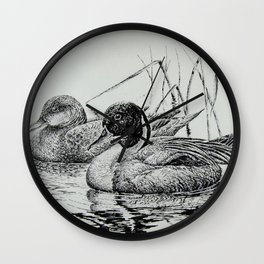 Pintail Pair Wall Clock