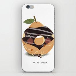 Orange Donut iPhone Skin