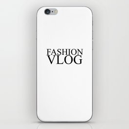 Fashion City: Fashion Vlog iPhone Skin