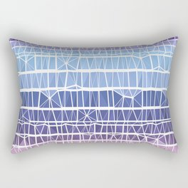 Low Poly Pink, Purple, and Blue Gradient Rectangular Pillow