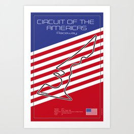 Circuit of the Americas, Austin Texas Art Print