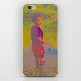 She Listens At Golden River And Feels An Overseeing Power iPhone Skin