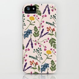 Botanical Pattern Light Peach iPhone Case