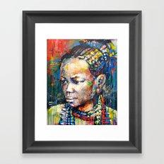 She - portrait of a beautiful woman Framed Art Print
