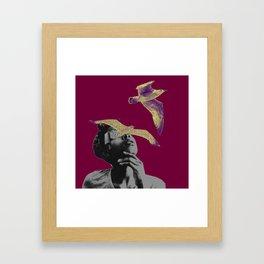 I think I saw a purple bird Framed Art Print
