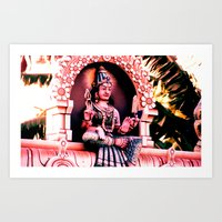 hindu Art Prints featuring Hindu 1 by very giorgious