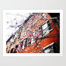 Flowers  and Philly Sky Art Print