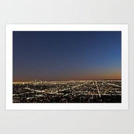 Los Angeles, CA Art Print