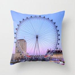 The London Eye, London Throw Pillow