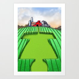 Disc Golf Crop Circles Art Print