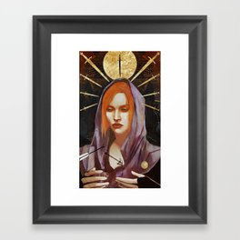 Nine of Swords: Leliana Framed Art Print