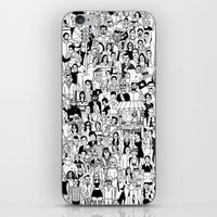 it crowd iPhone & iPod Skins featuring Crowd by mutante