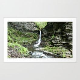 Hidden waterfall Art Print