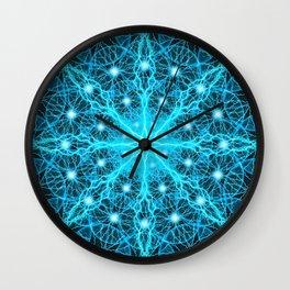 Electric Universe Mandala Wall Clock