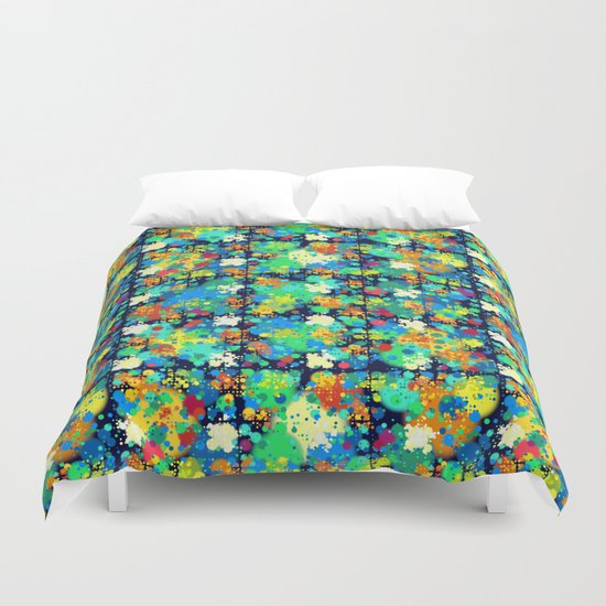 Colorful small circles pattern Duvet Cover
