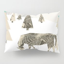 Winter Woods with Horse Pillow Sham