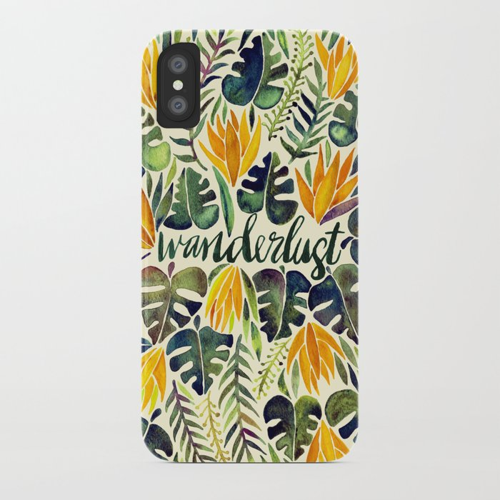 Tropical Wanderlust – Orange & Emerald iPhone Case